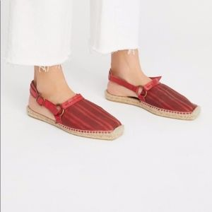 NEW In box Red Strappy free people cabo espadrille